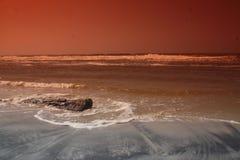 Φωτογραφία του sufr και της ακτής στην παραλία στοκ εικόνα με δικαίωμα ελεύθερης χρήσης
