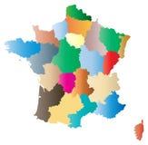Χάρτης της Γαλλίας διανυσματική απεικόνιση