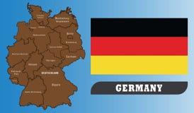 χάρτης της Γερμανίας σημαι απεικόνιση αποθεμάτων
