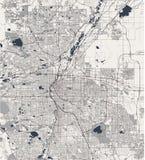 Χάρτης της πόλης του Ντένβερ, Κολοράντο, ΗΠΑ ελεύθερη απεικόνιση δικαιώματος