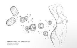 Χαμηλός πολυ σκιαγραφιών μορφής γυναικών λεπτός Χαριτωμένο σώμα κοριτσιών ομορφιάς ικανότητας Ζυγίστε χάνει το πρότυπο εμβλημάτων απεικόνιση αποθεμάτων