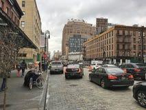 Χαμηλότερη ένατη λεωφόρος πόλεων της Νέας Υόρκης στοκ εικόνα με δικαίωμα ελεύθερης χρήσης