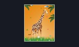 Χαριτωμένο giraffe διανυσματικό απομονωμένο απεικόνιση eps 6 - διανυσματικά σχέδια πλαισίων απεικόνιση αποθεμάτων
