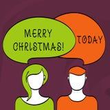 Χαρούμενα Χριστούγεννα κειμένων γραψίματος λέξης Επιχειρησιακή έννοια για τον εορτασμό Δεκέμβριος περιόδου διακοπών διανυσματική απεικόνιση