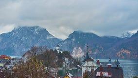 Χειμερινή ομίχλη σε Traunkirchen, Salzkammergut, Αυστρία φιλμ μικρού μήκους