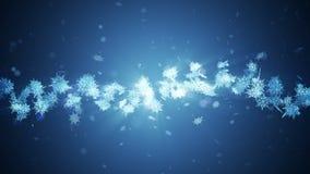 Χειμερινό σύμβολο Shinning με snowflakes ομορφιάς Δίνη από το χιόνι περιστροφής κάλυψη παγωμένη διανυσματικός χειμώνας προτύπων Χ απόθεμα βίντεο