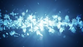 Χειμερινό σύμβολο Shinning με snowflakes ομορφιάς Δίνη από το χιόνι περιστροφής κάλυψη παγωμένη διανυσματικός χειμώνας προτύπων Χ φιλμ μικρού μήκους