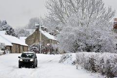 Χειμερινό χιόνι βόρεια Γιορκσάιρ - το Ηνωμένο Βασίλειο στοκ φωτογραφία