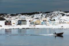Χειμώνας στο λιμάνι Durrell Twillingate NL Καναδάς στοκ εικόνες με δικαίωμα ελεύθερης χρήσης