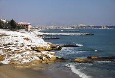 Χιόνι στη θάλασσα στοκ εικόνες