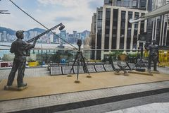Χονγκ Κονγκ, το Νοέμβριο του 2018 - λεωφόρος των αστεριών, Jackie Chan στοκ εικόνες