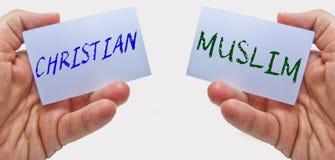 Χριστιανός και μουσουλμάνος στοκ φωτογραφία