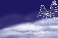 Χριστούγεννα η διανυσματική έκδοση δέντρων χαρτοφυλακίων μου αφηρημένη ανασκόπηση απεικόνιση αποθεμάτων
