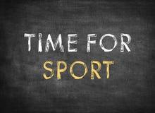 Χρόνος για τον αθλητισμό στοκ εικόνες