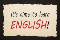 Χρόνος να μαθευτεί τα αγγλικά στοκ φωτογραφίες με δικαίωμα ελεύθερης χρήσης