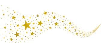 Χρυσά αστέρια στο ρεύμα ελεύθερη απεικόνιση δικαιώματος
