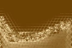 Χρυσά αφηρημένα στοιχείο μωσαϊκών και σκηνικό καλειδοσκόπιων, χρυσός λαμπρός ελεύθερη απεικόνιση δικαιώματος