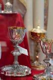 Χρυσά κάλυκες ή goblets στοκ φωτογραφία
