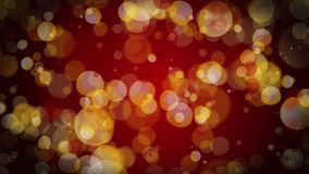 Χρυσός βρόχος 4k υποβάθρου μορίων Bokeh διανυσματική απεικόνιση