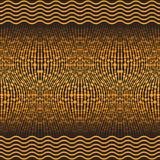 Χρυσό άνευ ραφής σχέδιο με τις κυματιστές γραμμές και τις σφαίρες ελεύθερη απεικόνιση δικαιώματος
