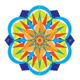 Χρωματισμένη πυξίδα Mandala στοκ φωτογραφίες με δικαίωμα ελεύθερης χρήσης