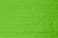 Χρωματισμένος τοίχος brickstone Pastell φωτεινός πράσινος στοκ εικόνες με δικαίωμα ελεύθερης χρήσης