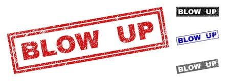 ΧΤΥΠΗΜΑ Grunge - ΕΠΑΝΩ γρατσουνισμένες σφραγίδες γραμματοσήμων ορθογωνίων ελεύθερη απεικόνιση δικαιώματος
