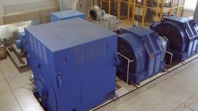Υψηλής τάσεως ηλεκτρικός κινητήρας σε εγκαταστάσεις κατασκευής Σταθμός υψηλής δύναμης υψηλή τάση 4K απόθεμα βίντεο