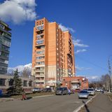 Υψηλό κτήριο σε Sloviansk ηλιόλουστος καιρός στοκ φωτογραφία με δικαίωμα ελεύθερης χρήσης