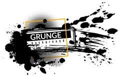 Υπόβαθρο μελανιού Grunge Ο μαύρος μελανωμένος splatter λεκές ρύπου ο παφλασμός ψεκασμού με τη διανυσματική αφηρημένη σύσταση πτώσ διανυσματική απεικόνιση