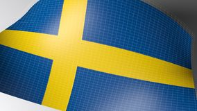 Υπόβαθρο με τη σημαία της Σουηδίας - τρισδιάστατη δίνοντας απεικόνιση διανυσματική απεικόνιση