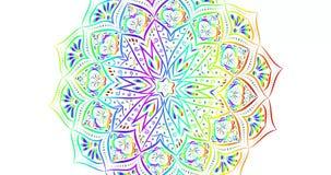 Υπόβαθρο mandala ουράνιων τόξων ελεύθερη απεικόνιση δικαιώματος