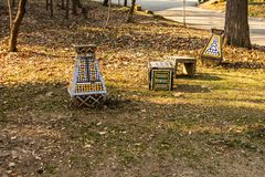 Πάρκο της Carol στο Βουκουρέστι, Ρουμανία αλέα κενή στοκ εικόνες με δικαίωμα ελεύθερης χρήσης