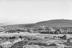 Πάρκο τροχόσπιτων Tietiesbaai στην επιφύλαξη φύσης Columbine ακρωτηρίων μονοχρωματικός στοκ φωτογραφία με δικαίωμα ελεύθερης χρήσης