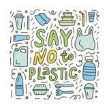 Πέστε το αριθ. στο πλαστικό doodle απεικόνιση αποθεμάτων