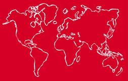 Παγκόσμιος χάρτης γραμμικός - διάνυσμα διανυσματική απεικόνιση