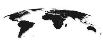 Παγκόσμιος χάρτης που απομονώνεται στο άσπρο υπόβαθρο στο γκρίζο χρώμα επίσης corel σύρετε το διάνυσμα απεικόνισης ελεύθερη απεικόνιση δικαιώματος