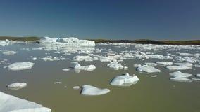 παγόβουνα Ισλανδία απόθεμα βίντεο