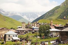Παλαιά κοιλάδα Ushguli στη Γεωργία στοκ φωτογραφία με δικαίωμα ελεύθερης χρήσης