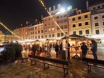 Παλαιά πόλη της Βαρσοβίας, χειμερινοί φωτισμοί στοκ φωτογραφία με δικαίωμα ελεύθερης χρήσης