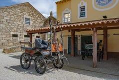 Παλαιές horse-drawn μεταφορές σε Picadeiro DelÂ'Rey στην περιτοιχισμένη πόλη Almeida στοκ φωτογραφία με δικαίωμα ελεύθερης χρήσης