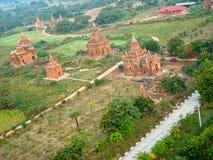 παλαιοί ναοί κατά την άποψη του Βιετνάμ άνωθεν στοκ εικόνα