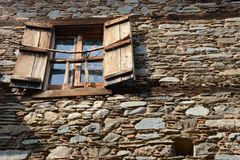 Παλαιός τουβλότοιχος του ahouse στοκ εικόνες με δικαίωμα ελεύθερης χρήσης