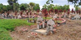 Παλαιό νεκροταφείο στη Σιγκαπούρη στοκ εικόνα
