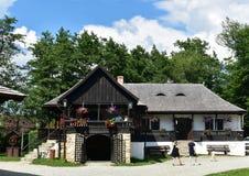 Παλαιό σπίτι αγροτών, στο μουσείο Astra στο Sibiu, Ρουμανία στοκ φωτογραφίες με δικαίωμα ελεύθερης χρήσης