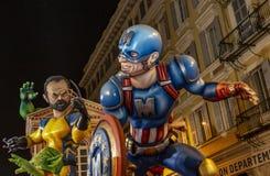 Παρέλαση νύχτας - Carnaval de Νίκαια 2019 στοκ εικόνα