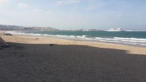 Παραλία του Tangier, Μαρόκο στοκ φωτογραφία με δικαίωμα ελεύθερης χρήσης