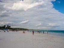 Παραλία Tulum, καταστροφές της αρχαίας των Μάγια πόλης, τόπος προορισμού τουριστών, καραϊβική θάλασσα, κόλπος στοκ φωτογραφία με δικαίωμα ελεύθερης χρήσης