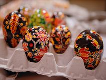 Παραδοσιακά αυγά Πάσχας στοκ φωτογραφία