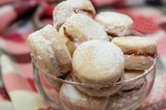 Παραδοσιακά σερβικά μπισκότα βανίλιας στοκ εικόνες